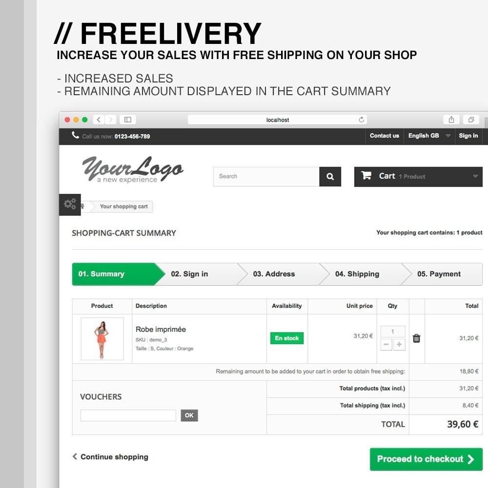 pack - Custo de frete - Advanced shipping - 8