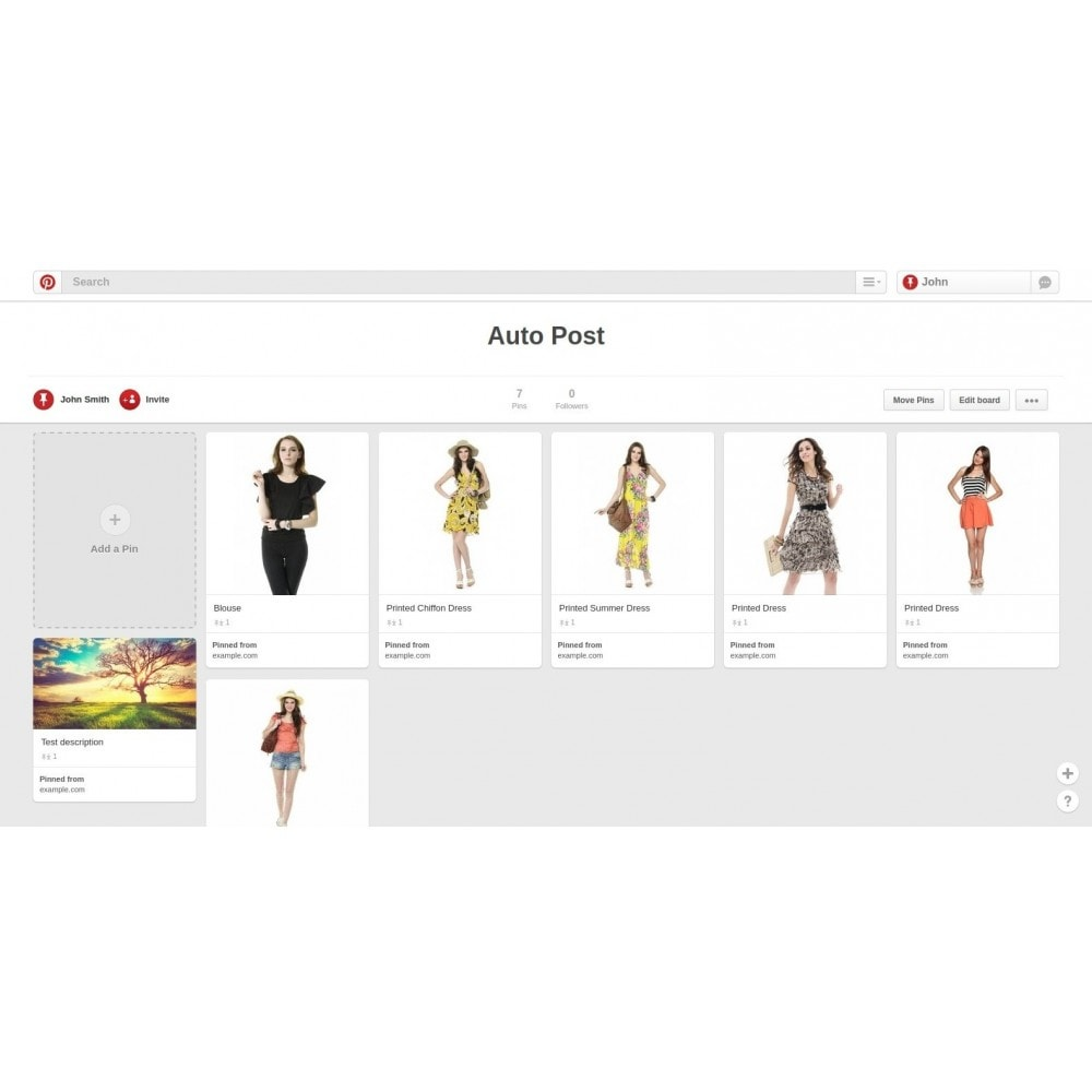 module - Deelknoppen & Commentaren - Auto-Post Products to Pinterest - 1