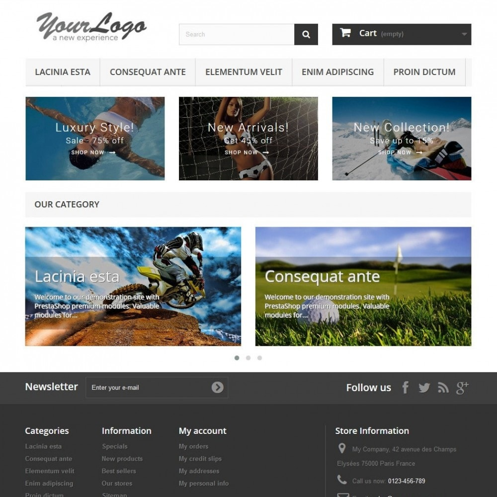 module - Slider & Gallerie - Responsive Carousel with Categories - 2