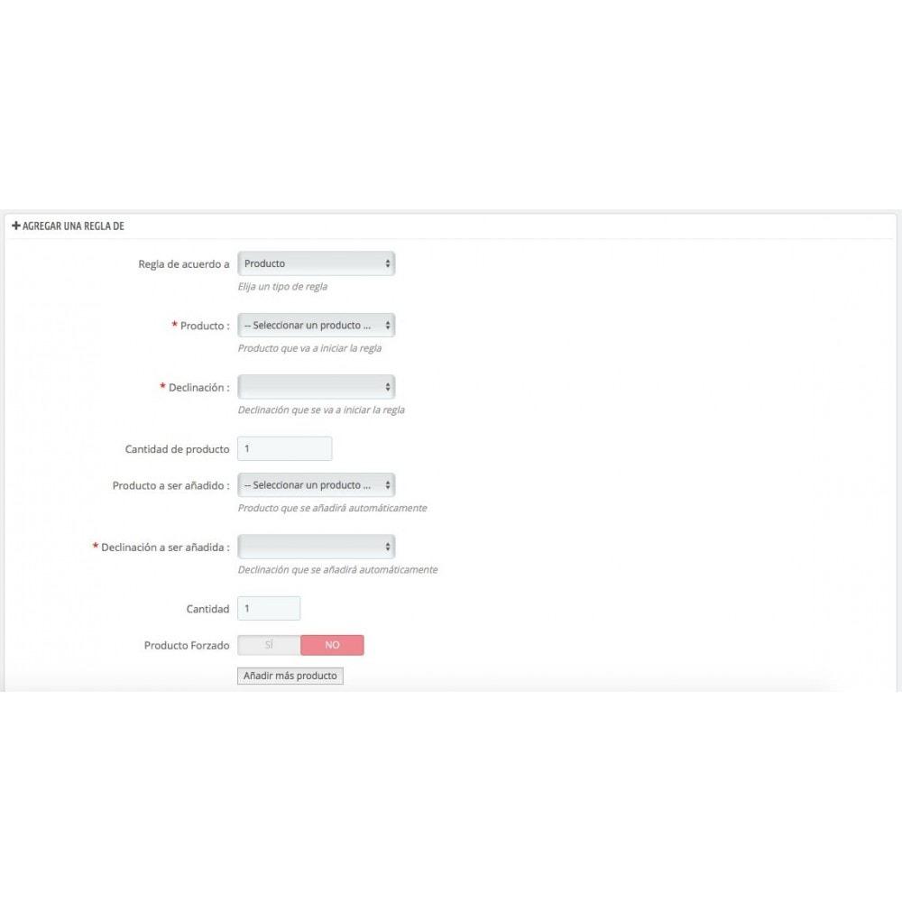 module - Ventas cruzadas y Packs de productos - Agrega automáticamente productos al carrito(seguro,...) - 3