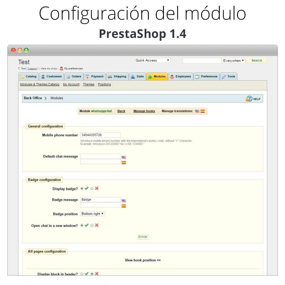 module - Asistencia & Chat online - WhatsApp - Chat con clientes - WhatsApp para Negocios - 18