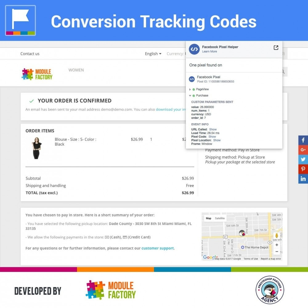 module - Analytics & Statistics - Conversion Tracking Codes for AdWords and Social - 2