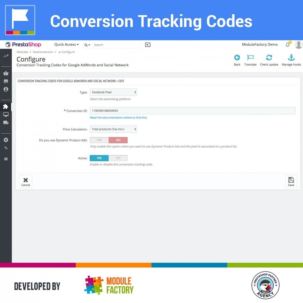 module - Analytics & Statistics - Conversion Tracking Codes for AdWords and Social - 4