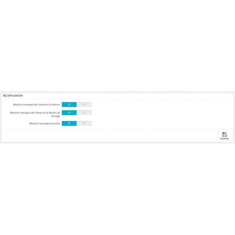 module - Gestión de Pedidos - Mensajes del Cliente en Factura y/o Recibo de Entrega - 2