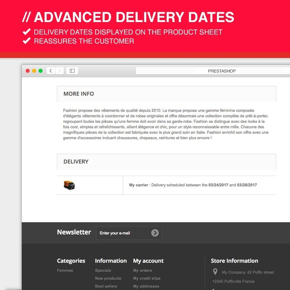 module - Leverdatum - Advanced delivery dates - 7