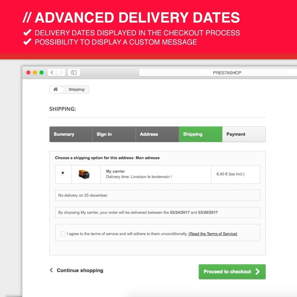 module - Leverdatum - Advanced delivery dates - 8