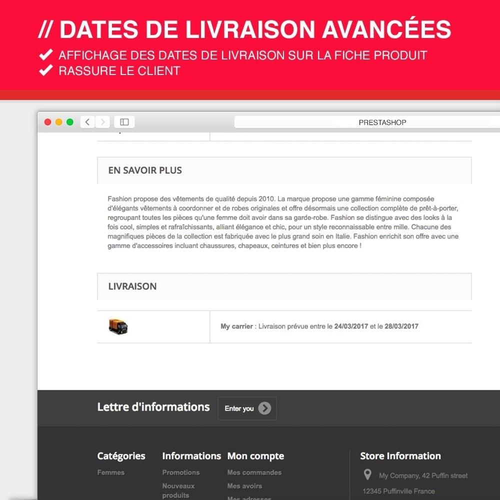 module - Date de livraison - Dates de livraison avancées - 7