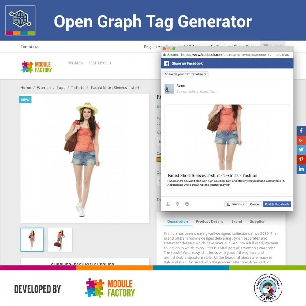 module - SEO - Automatic Open Graph Tag Generator + Share Buttons - 2