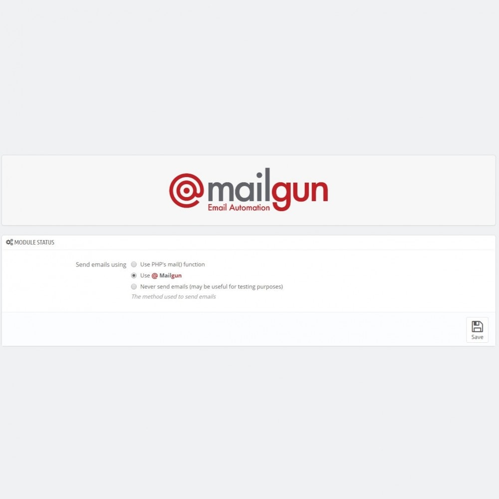 module - Newsletter y SMS - Mailgun connector - Powerful email delivery - 3