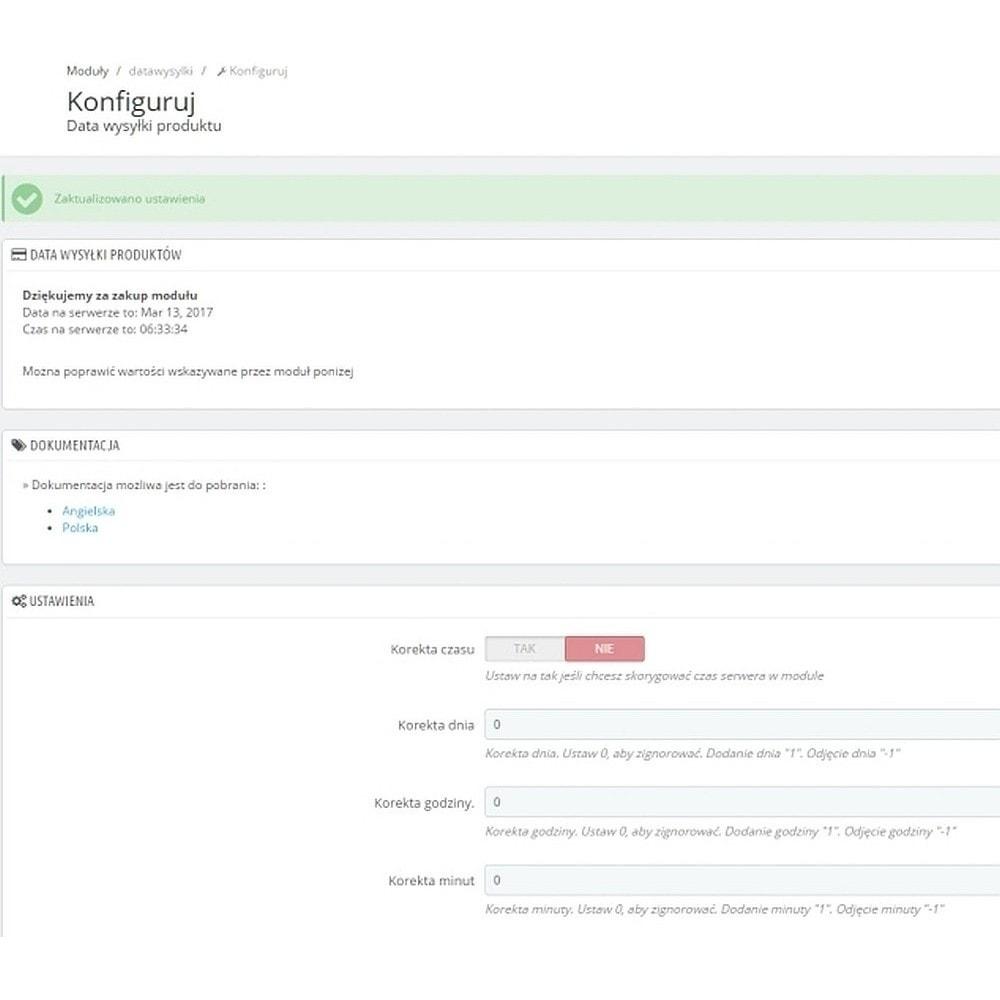 module - Data dostawy - Data wysyłki wiadomość - 4