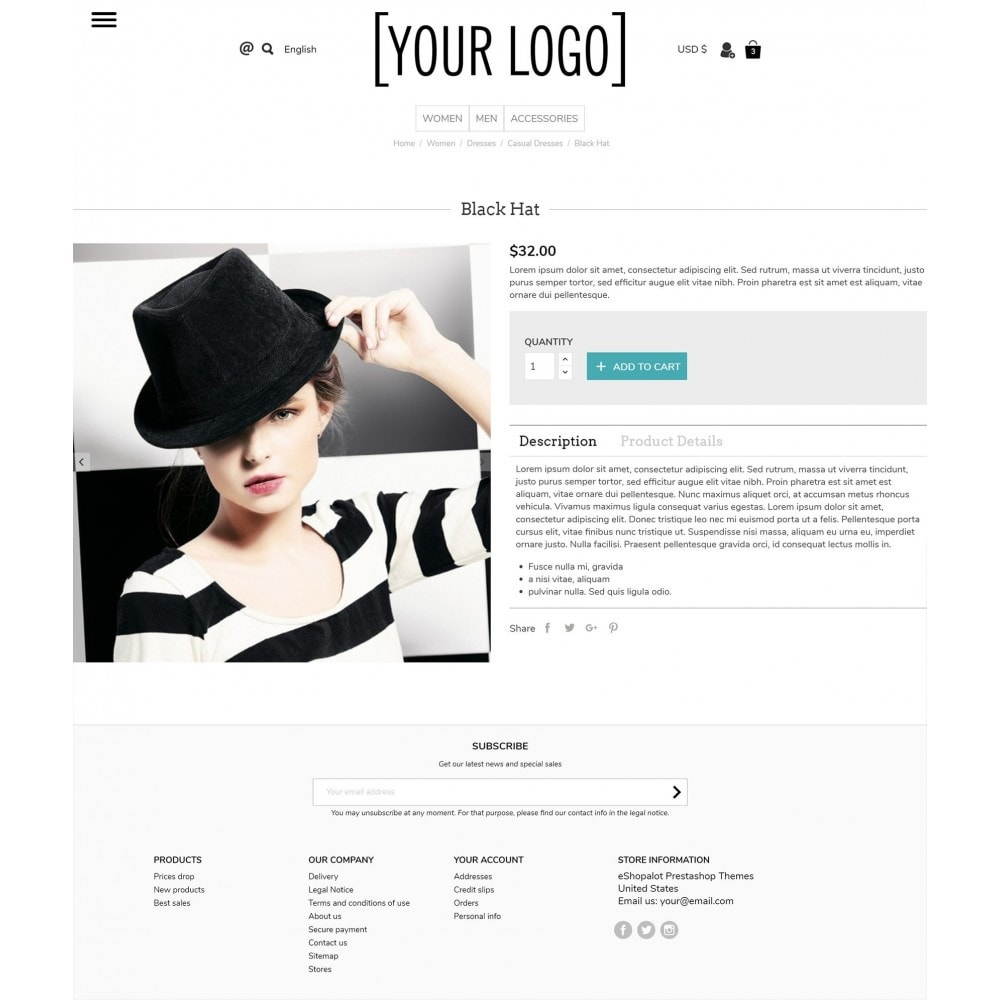 theme - Bijoux & Accessoires - Ultramodern with pull-out side menus - 3