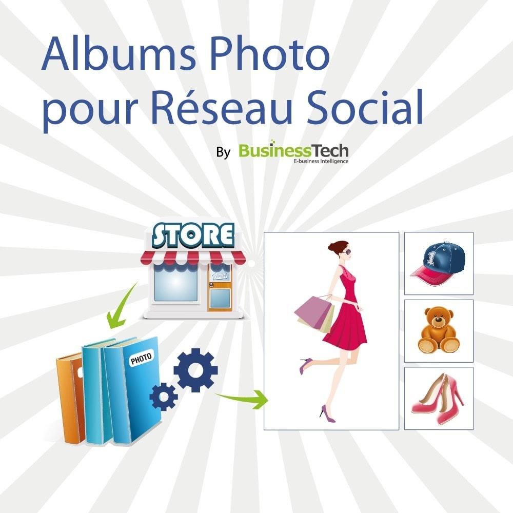 module - Produits sur Facebook & réseaux sociaux - Photo Albums pour LE Réseau Social - 1