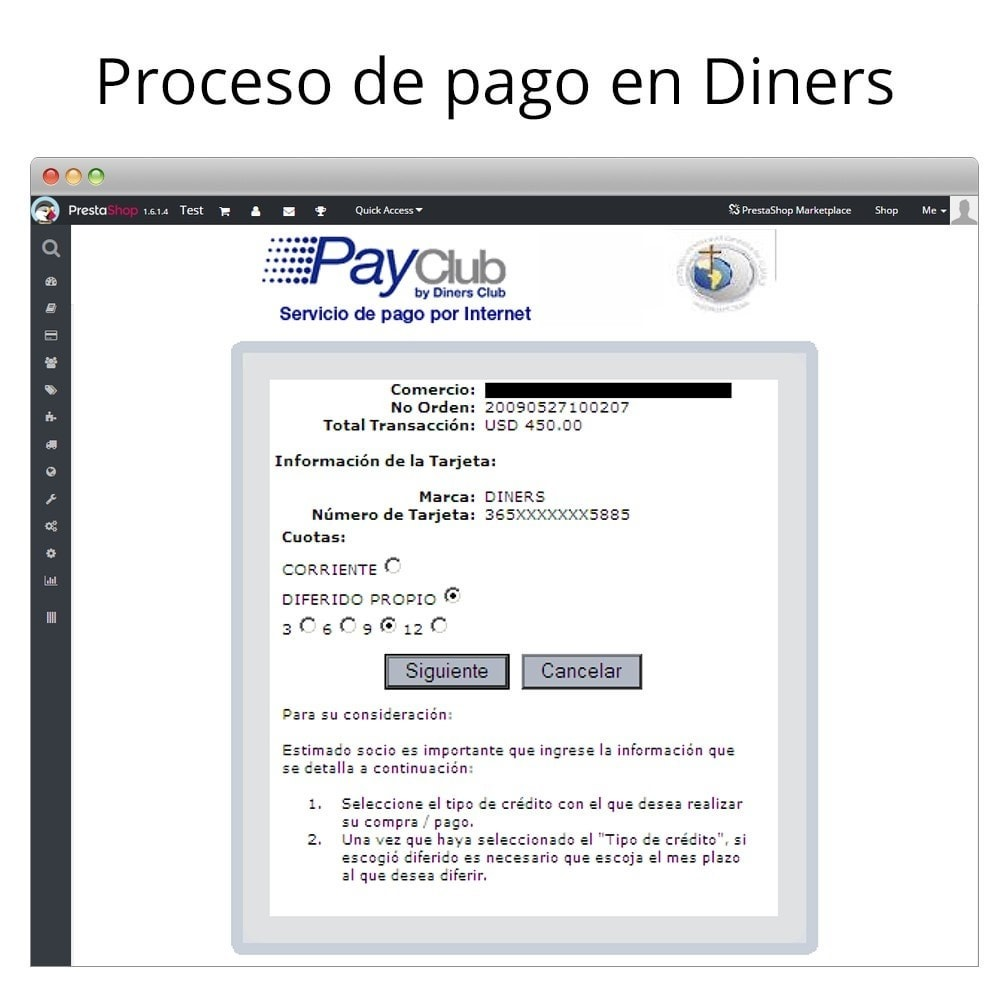 module - Payment by Card or Wallet - Interdin PayClub By Diners Club - 7
