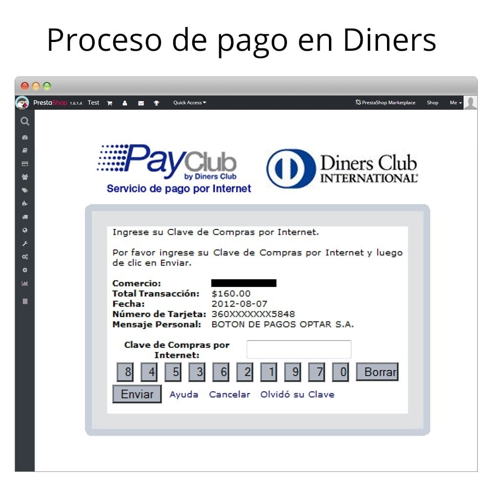 module - Payment by Card or Wallet - Interdin PayClub By Diners Club - 8