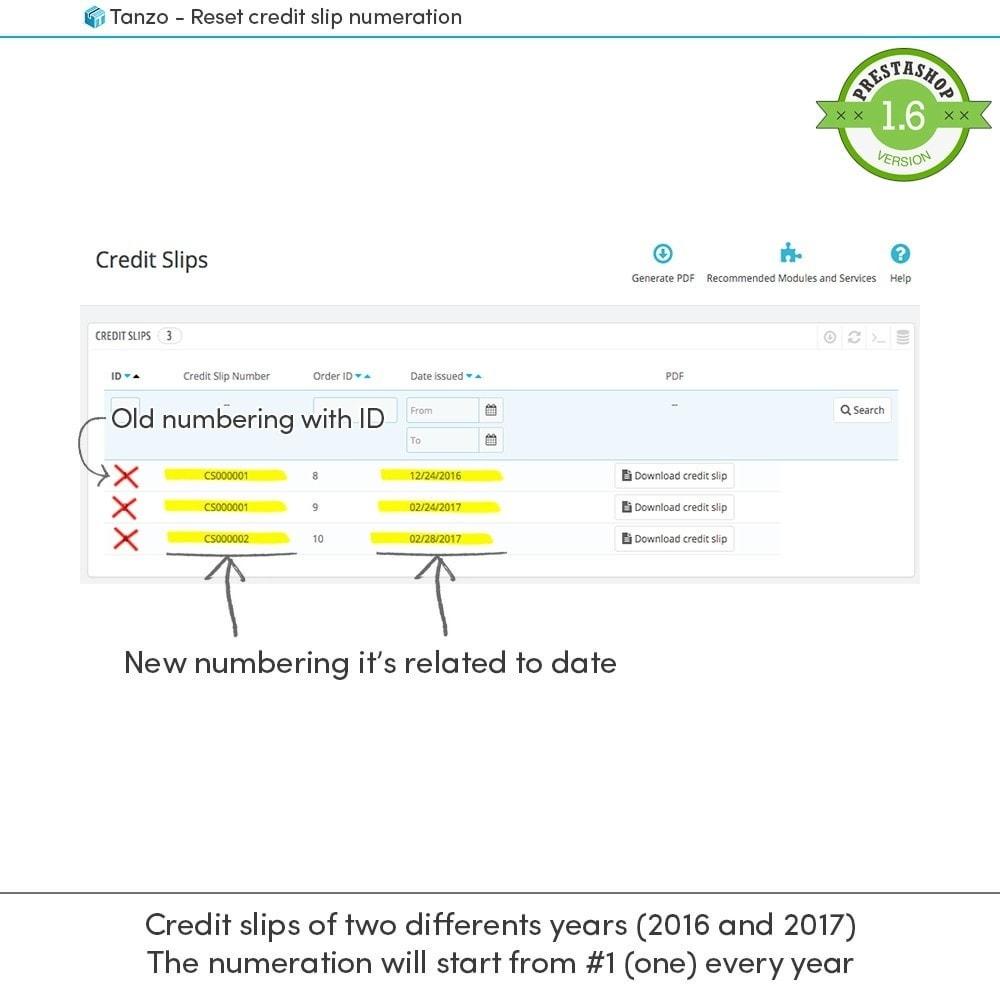module - Buchhaltung & Rechnung - Reset credit slip numbering - 3