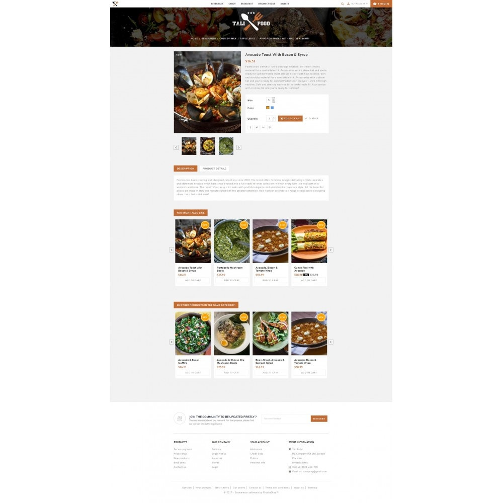 theme - Alimentation & Restauration - Tali Food Store - 5