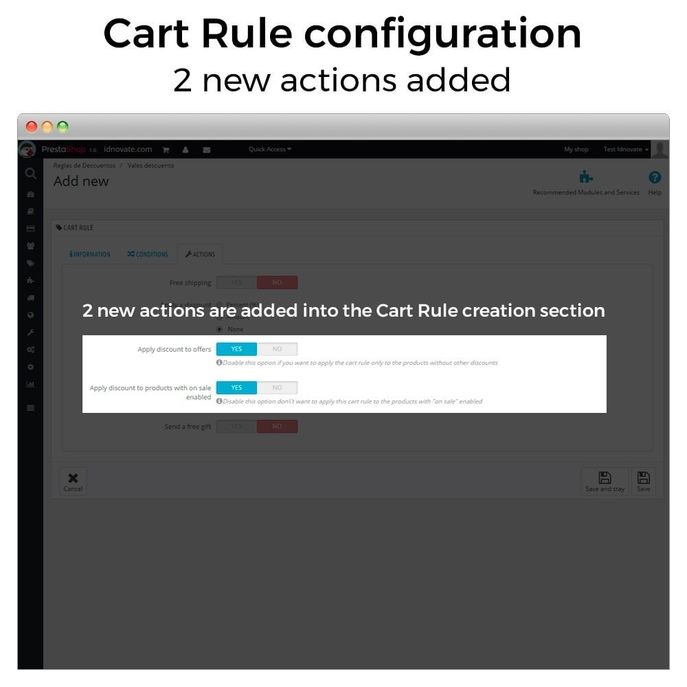 module - Promotions & Gifts - Conditional Cart Rules (without offers, on sale...) - 2