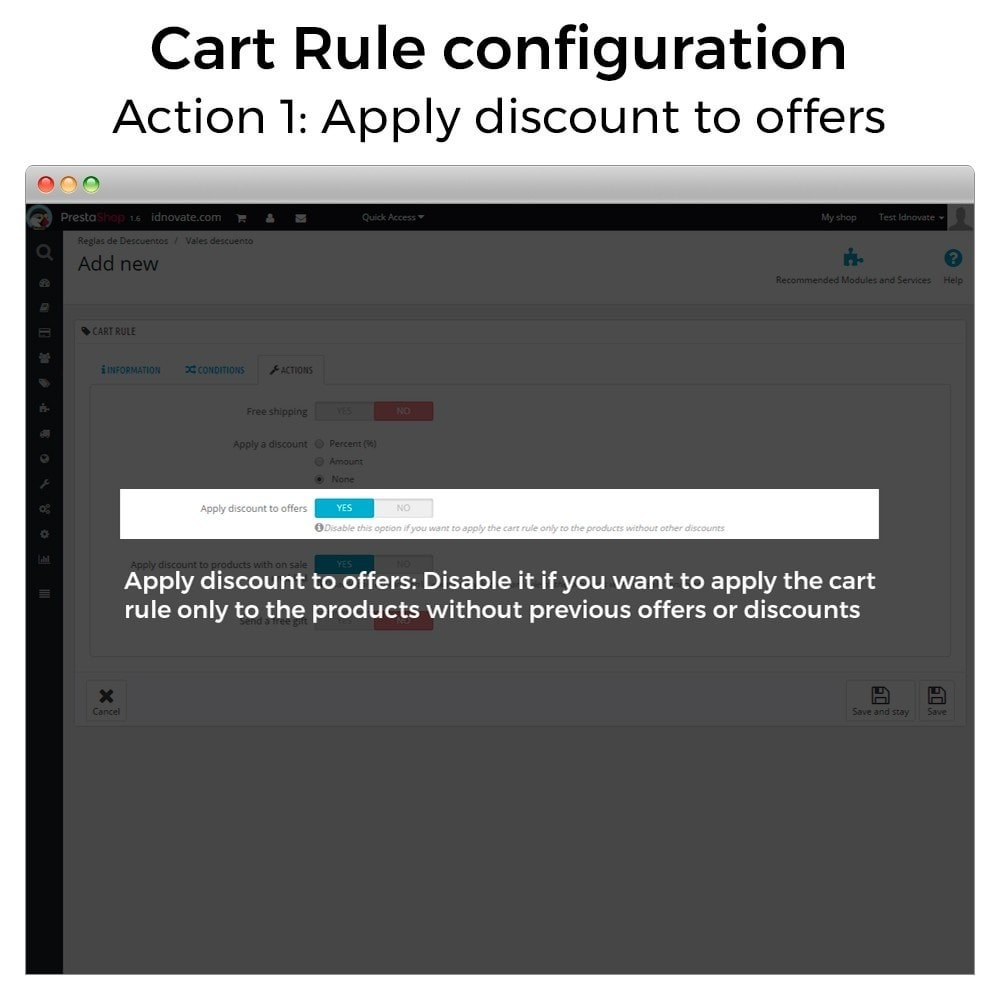 module - Promotions & Gifts - Conditional Cart Rules (without offers, on sale...) - 3