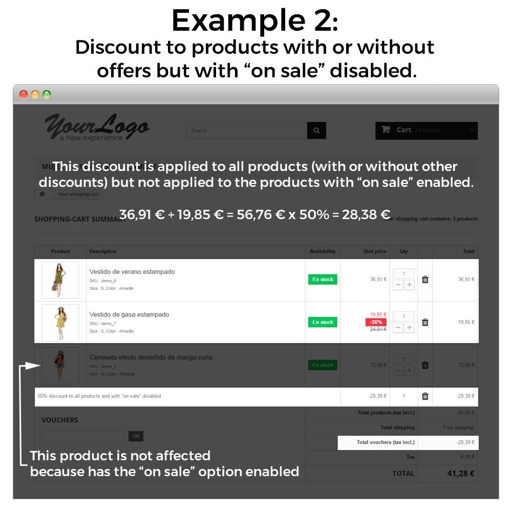 module - Promotions & Gifts - Conditional Cart Rules (without offers, on sale...) - 9