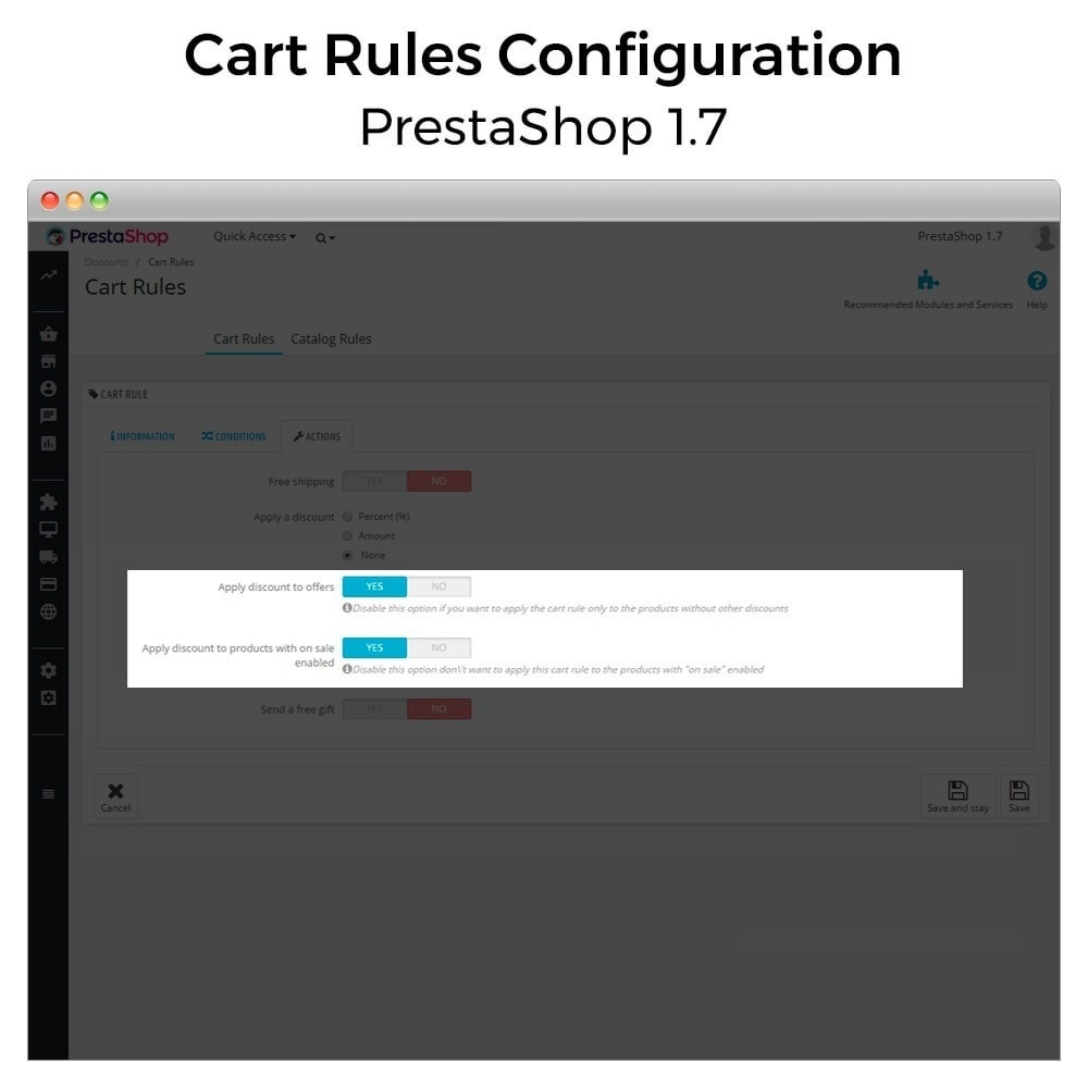 module - Акции и Подарки - Conditional Cart Rules (without offers, on sale...) - 10