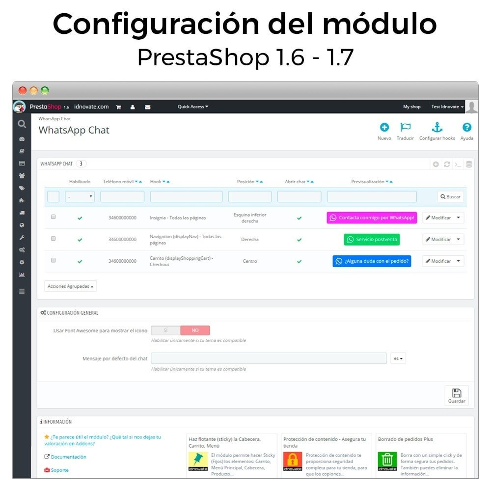 module - Asistencia & Chat online - WhatsApp - Chat con clientes y WhatsApp para Negocios - 16