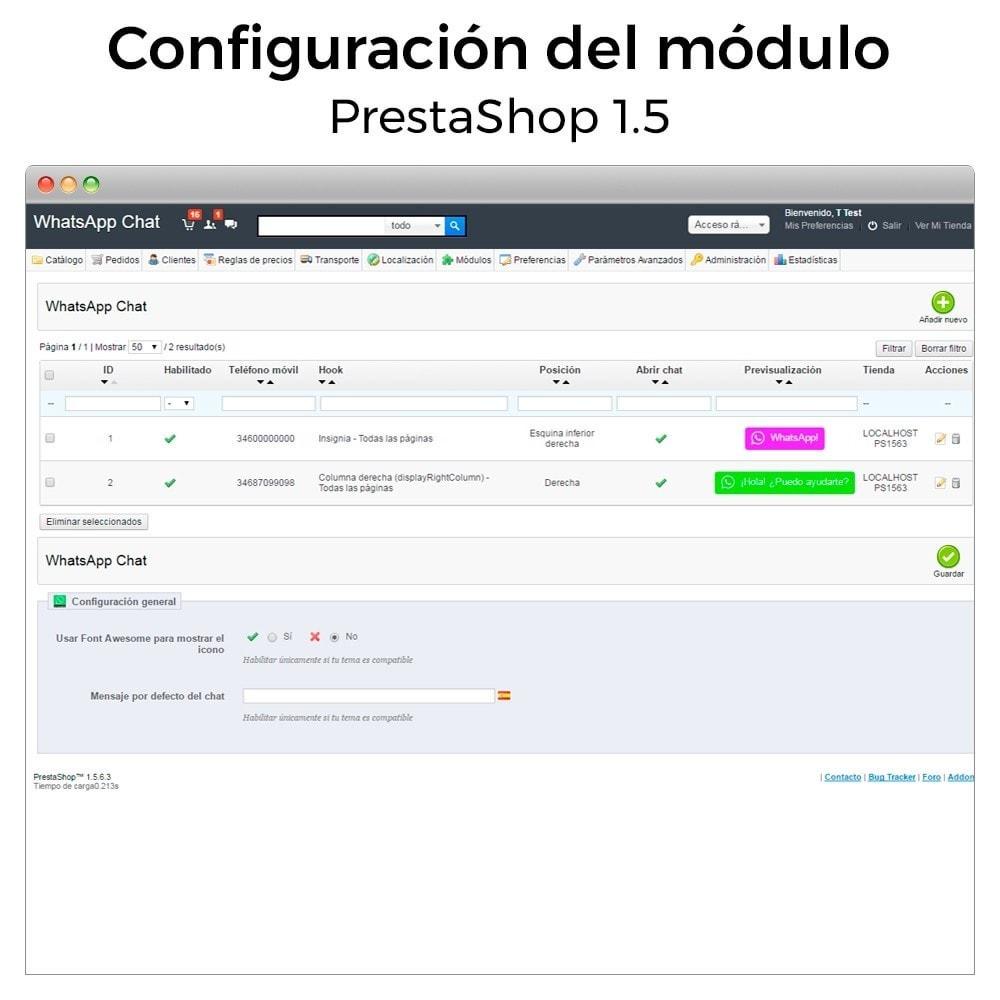 module - Asistencia & Chat online - WhatsApp - Chat con clientes - WhatsApp para Negocios - 17