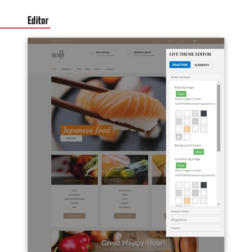 theme - Alimentation & Restauration - Leo I-sushi - 6