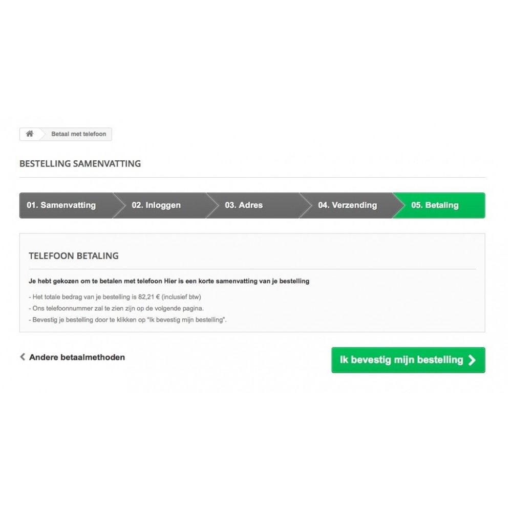 module - Andere betaalmethodes - Betaal met telefoon - 4