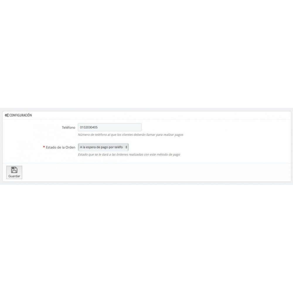 module - Otros métodos de pago - Pagar por Teléfono - 3