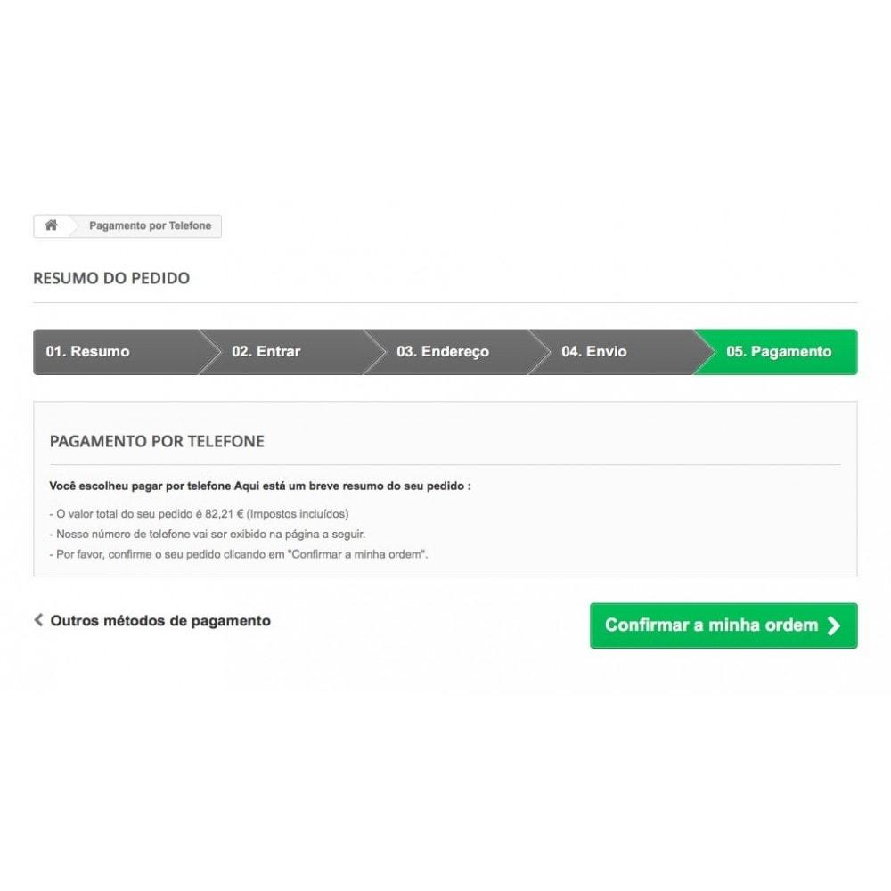 module - Formas de Pagamento Alternativas - Pagamento por Telefone - 4