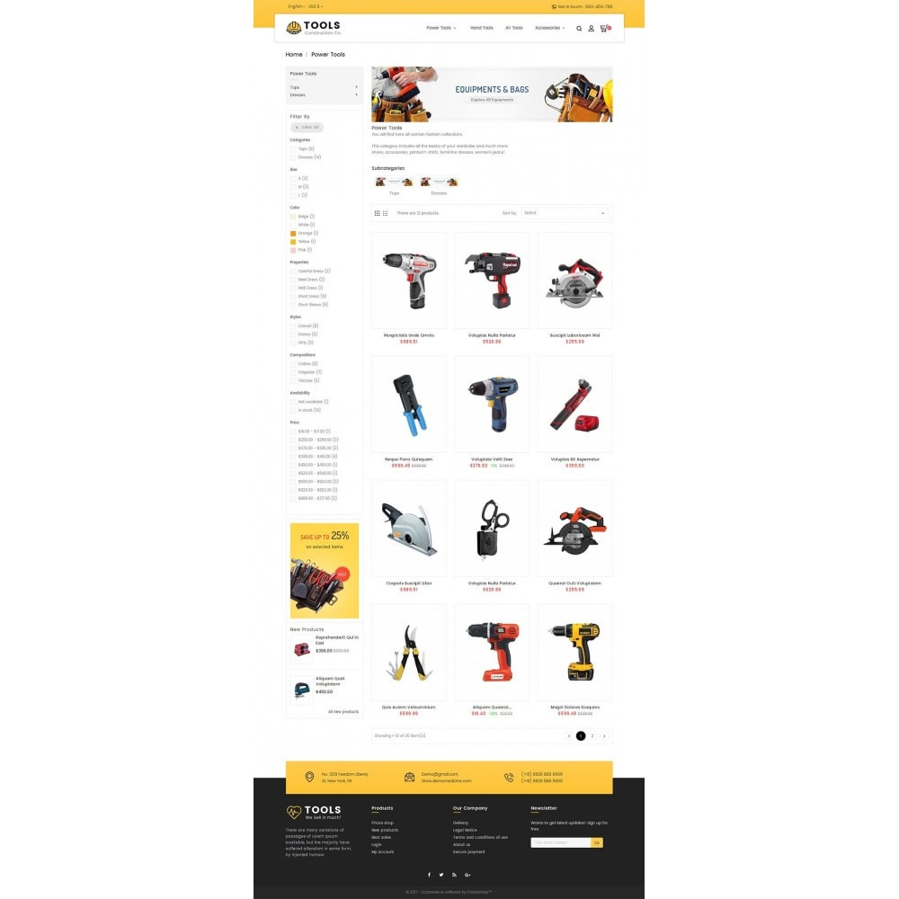 theme - Casa & Jardins - Construction Tools Store - 3