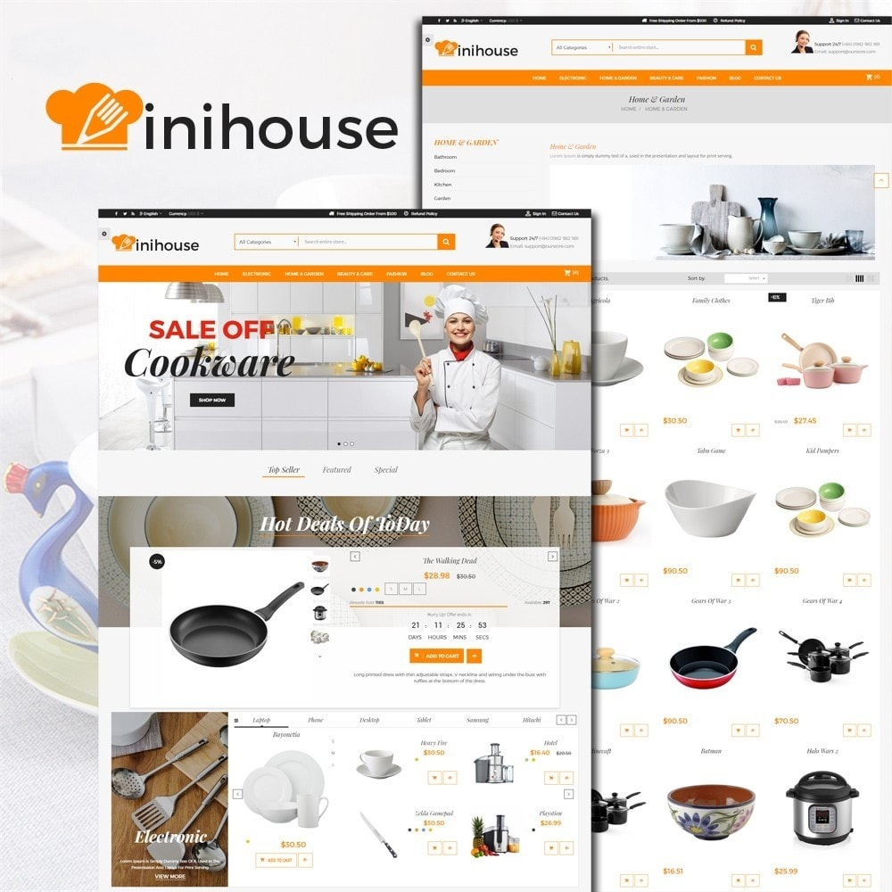 theme - Casa & Jardins - MiniHouse Home Kitchen - 1