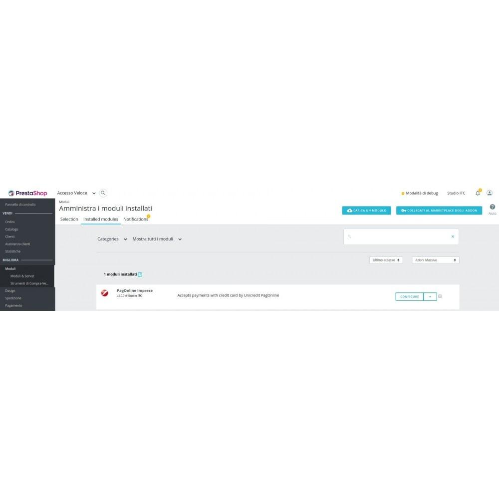 module - Pagamento con Carta di Credito o Wallet - Pagamento PagOnline Imprese Unicredit - 1