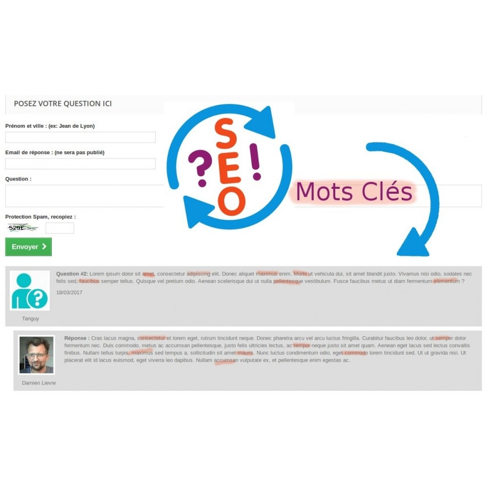 module - SEO (référencement naturel) - Questions Réponses multipages pour le SEO - 1