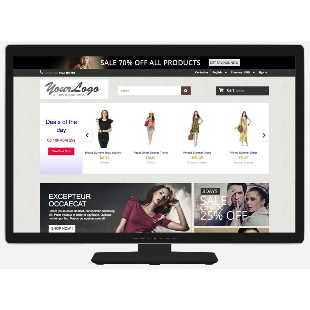 module - Flash & Private Sales - Deals of the Day slider with countdown - 7