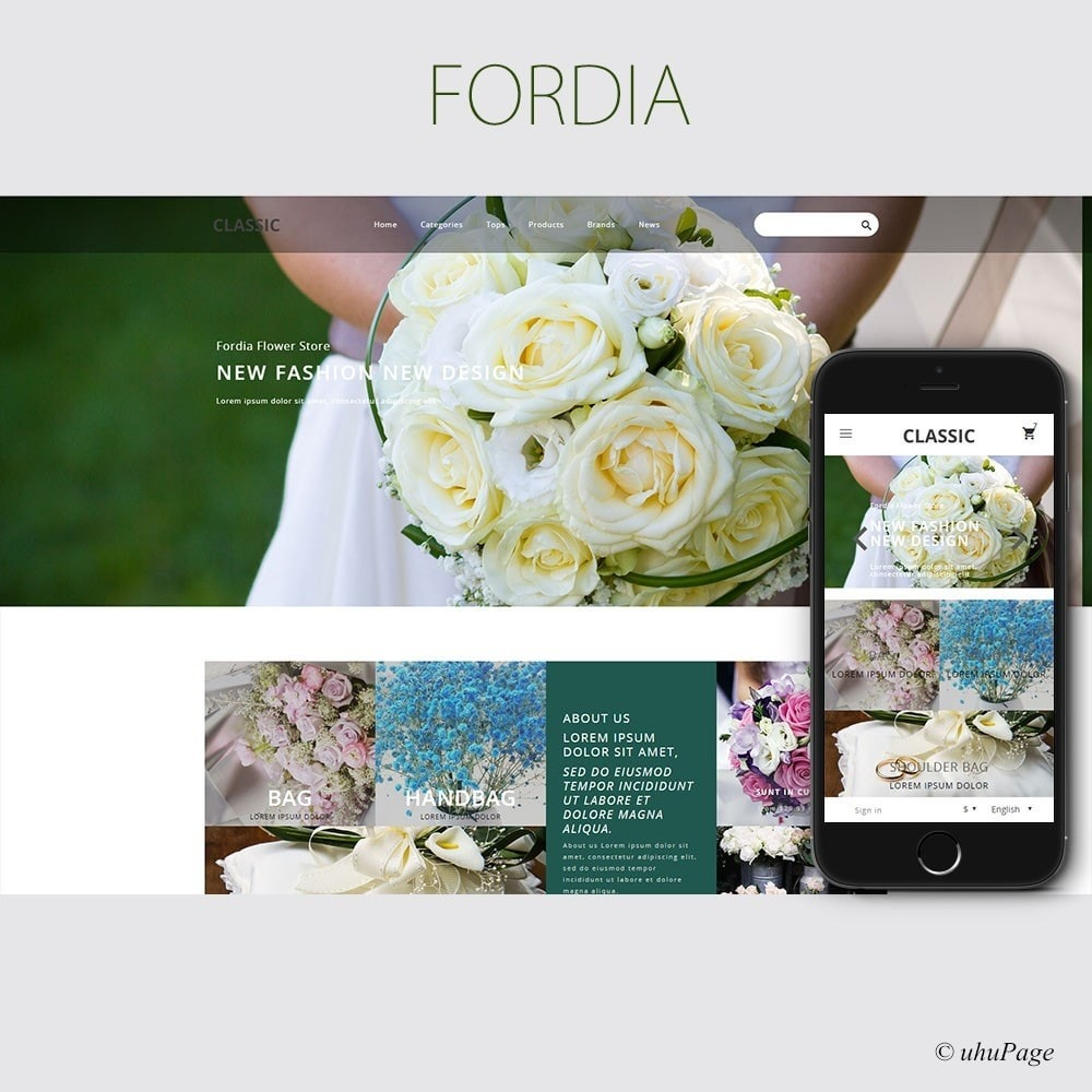 theme - Gifts, Flowers & Celebrations - Fordia Flower Store - 1