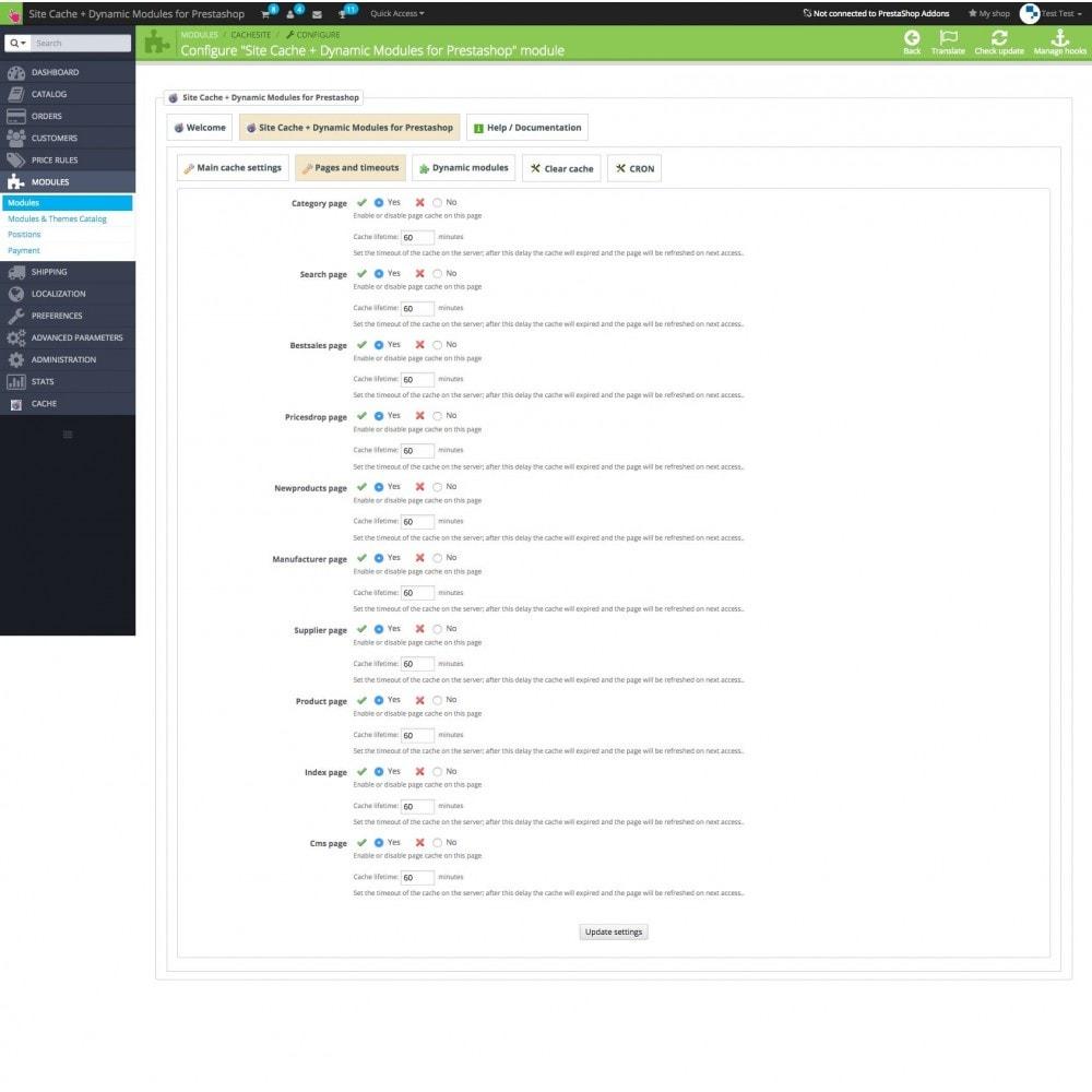 module - Website performantie - Site Cache + Dynamic Hooks - 7