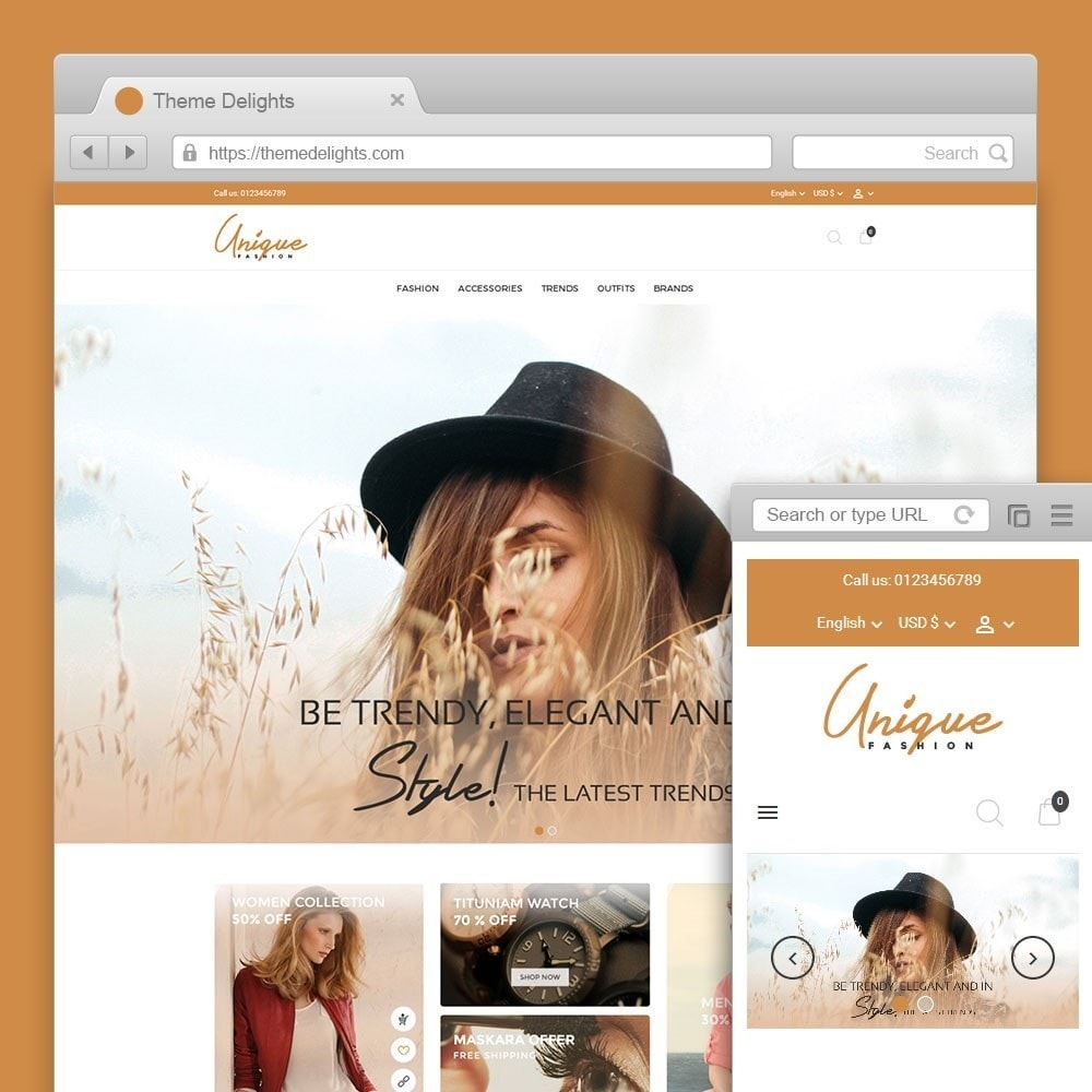 theme - Mode & Chaussures - Unique Fashion Store - 1