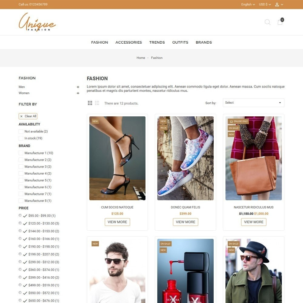 theme - Mode & Chaussures - Unique Fashion Store - 3
