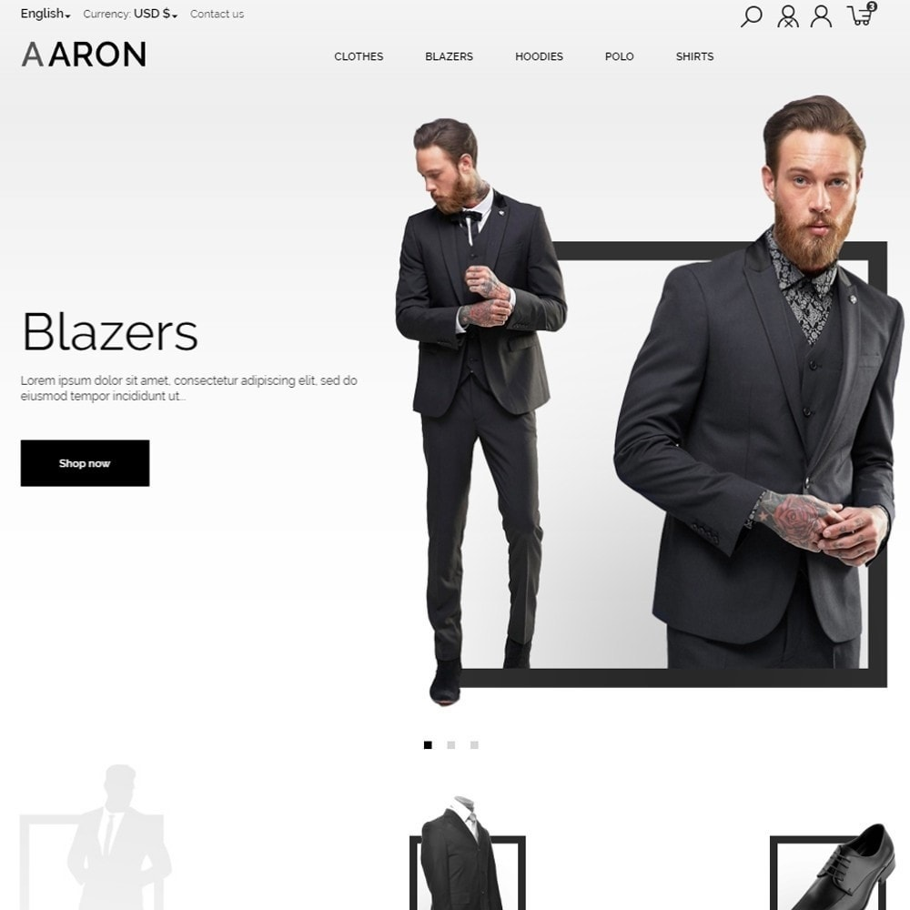 theme - Moda & Calzature - Aaron Men's Wear - 2