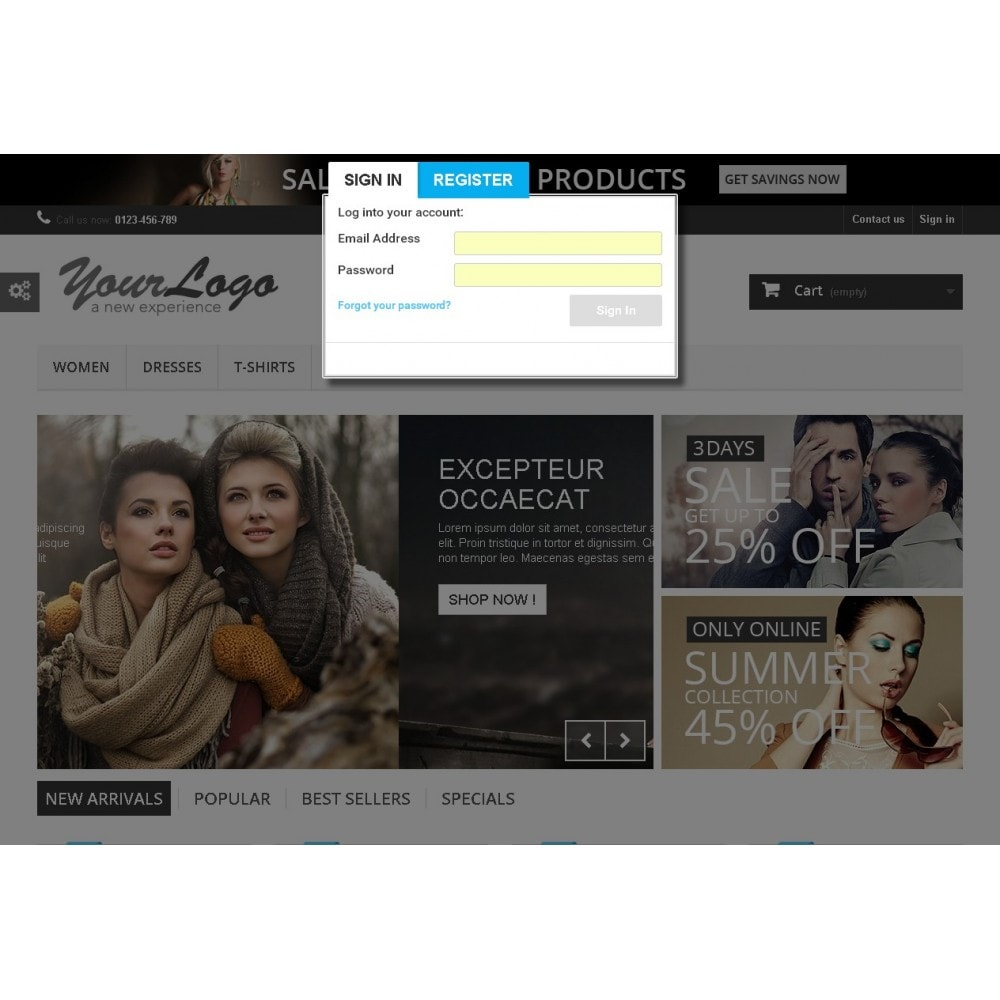 module - Registratie en Proces van bestellingen - Quick PopUp Login(with social Login) Or Register - 3