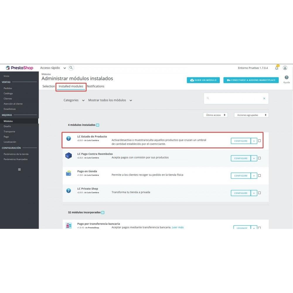 module - Quick Eingabe & Massendatenverwaltung - LC Product Status - 5