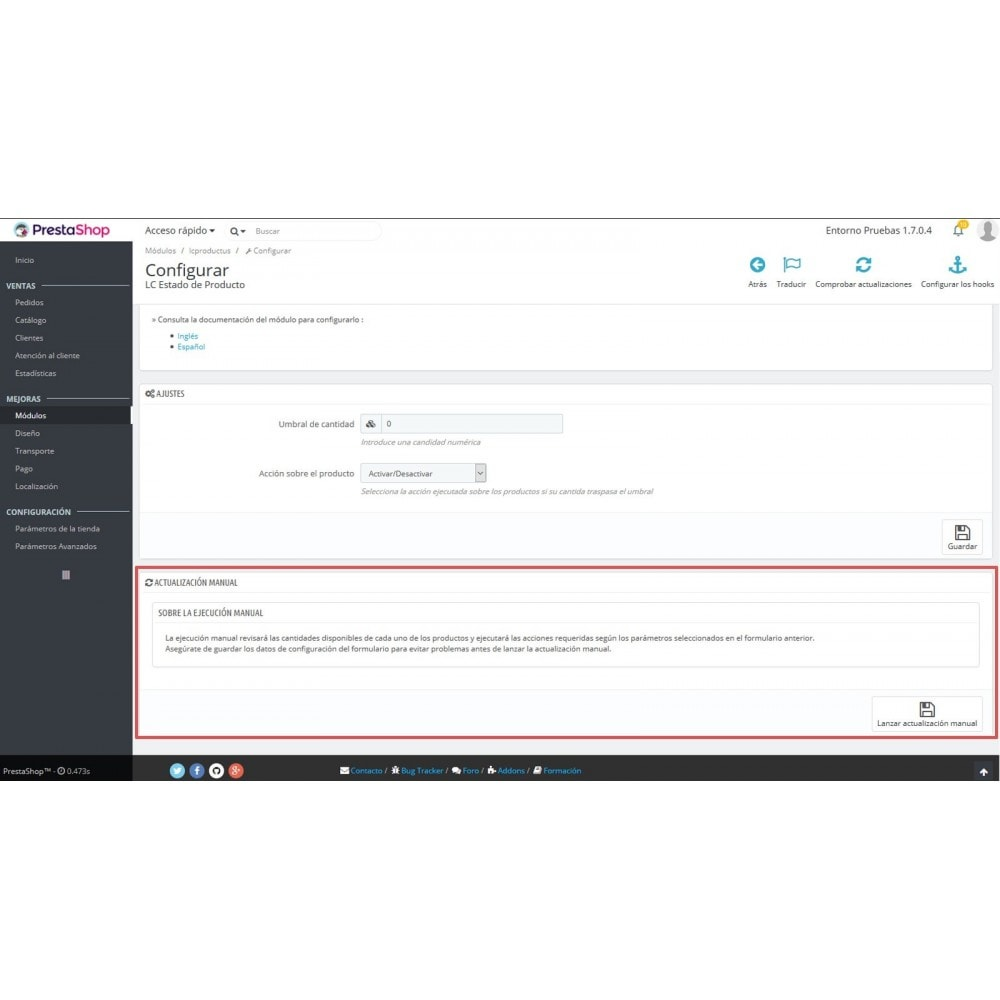 module - Fast & Mass Update - LC Product Status - 7