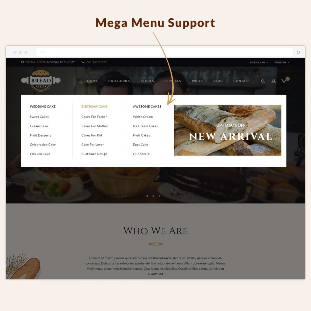 theme - Lebensmittel & Restaurants - JMS Bread - 3
