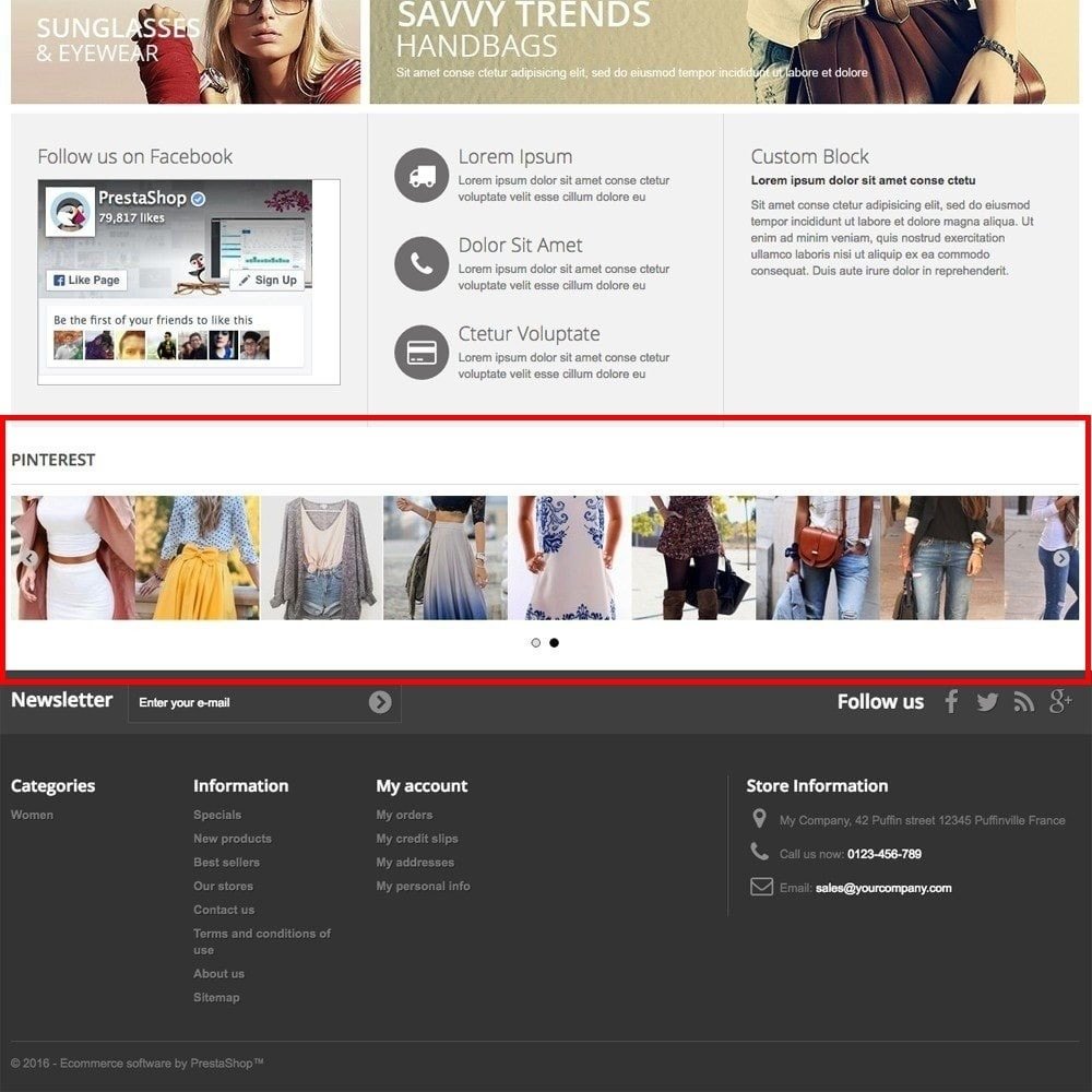 module - Widgets para redes sociales - Pinterest Images Feed - 2
