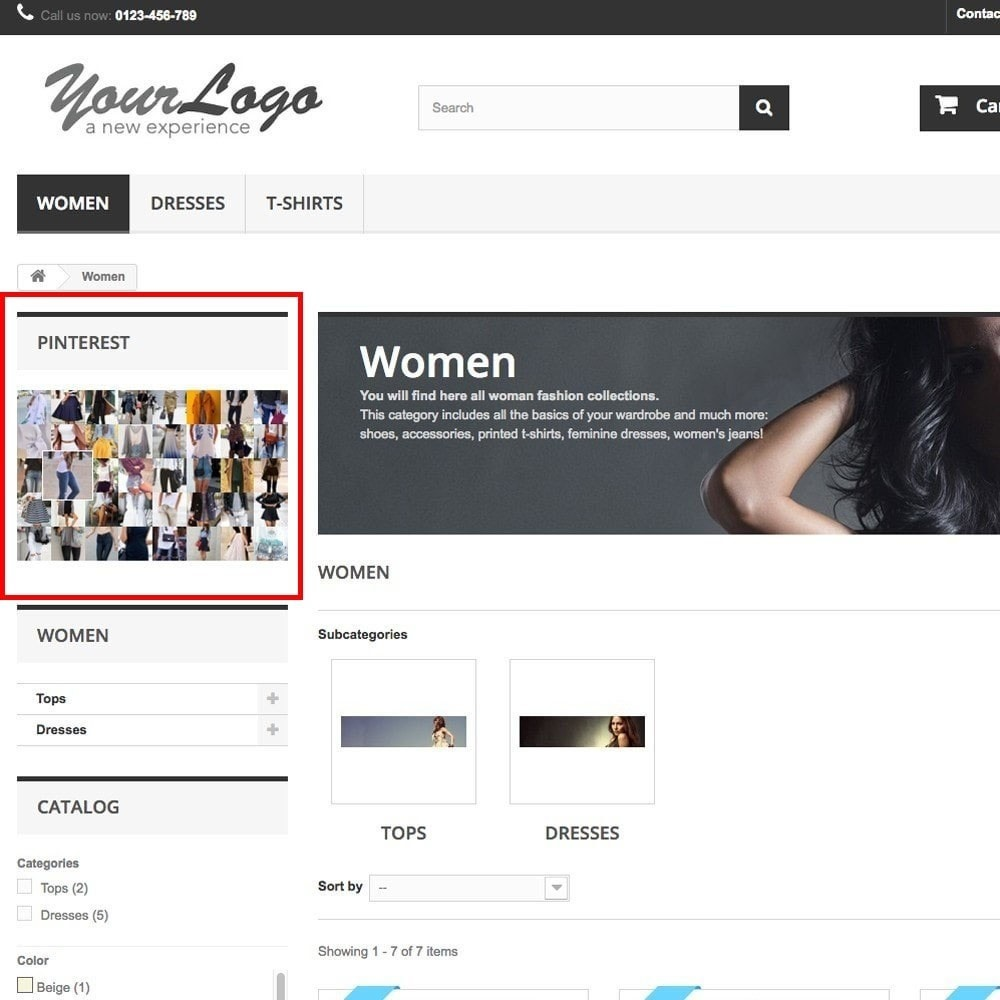 module - Social Widget - Pinterest Images Feed - 4