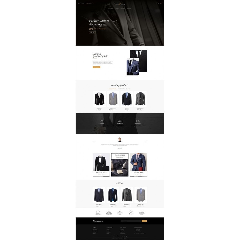 theme - Fashion & Shoes - Suit/Tailor Store - 2