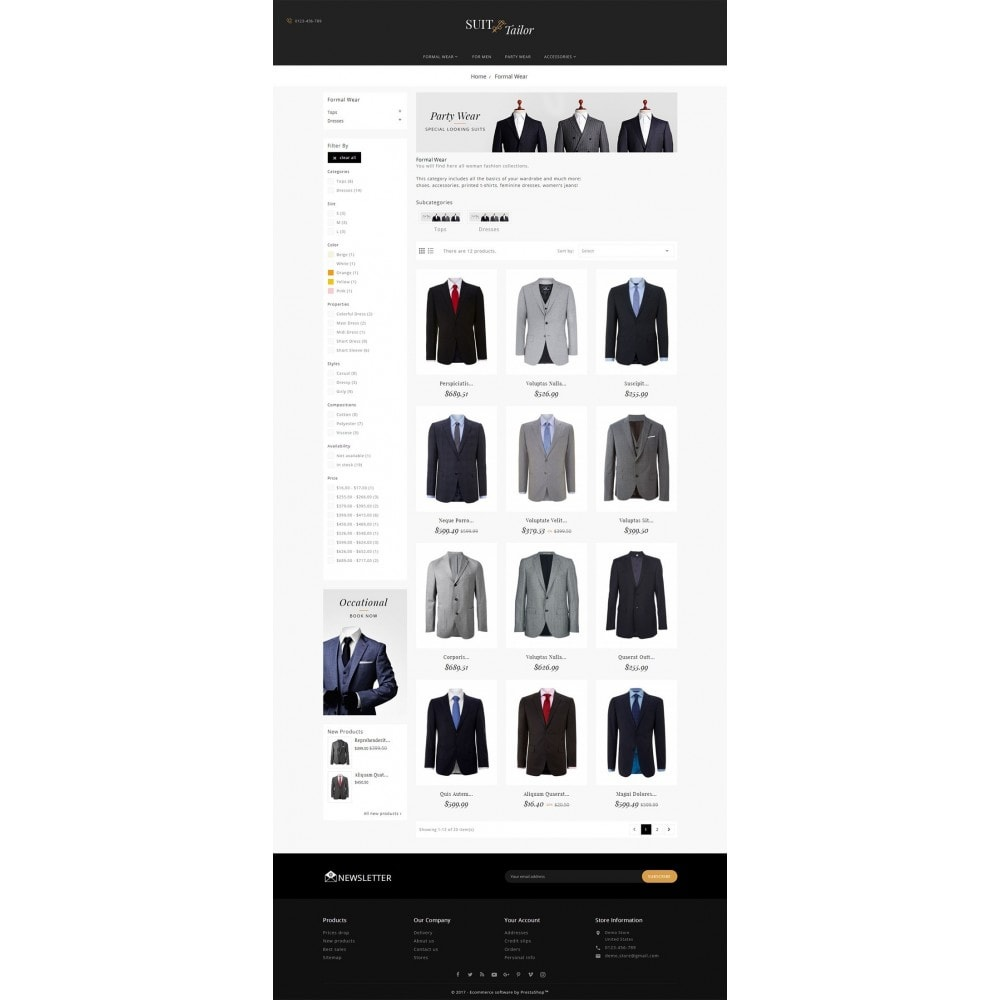 theme - Mode & Schoenen - Suit/Tailor Store - 3