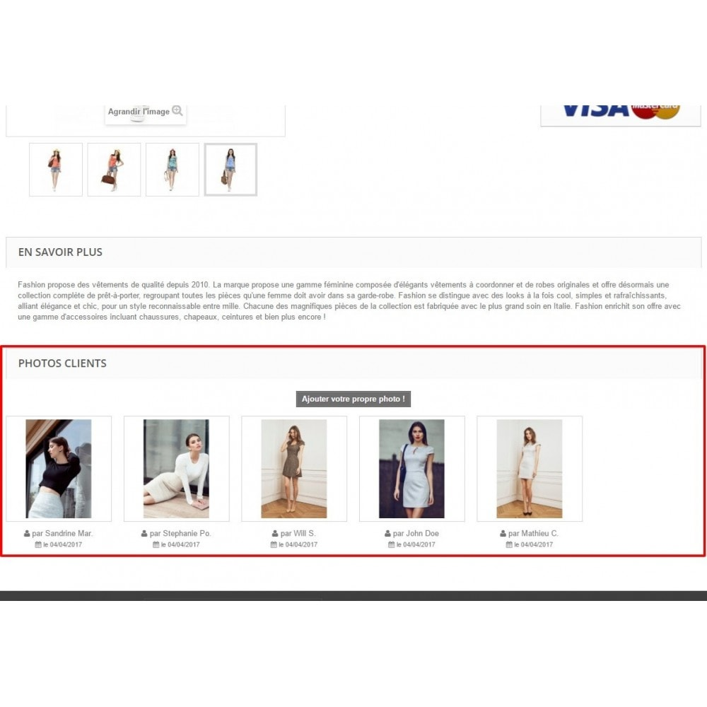module - Visuels des produits - Photos Clients sur vos pages produit - 1