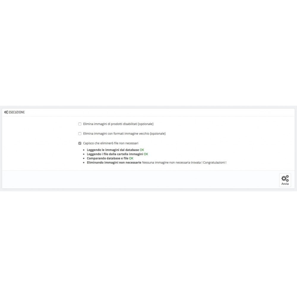 module - Website Performance - Eliminare immagini di prodotti non necessari - 1